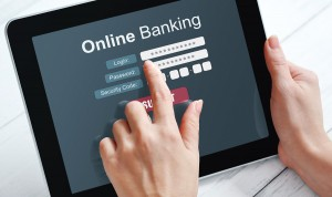 Using online banking on touch screen device
