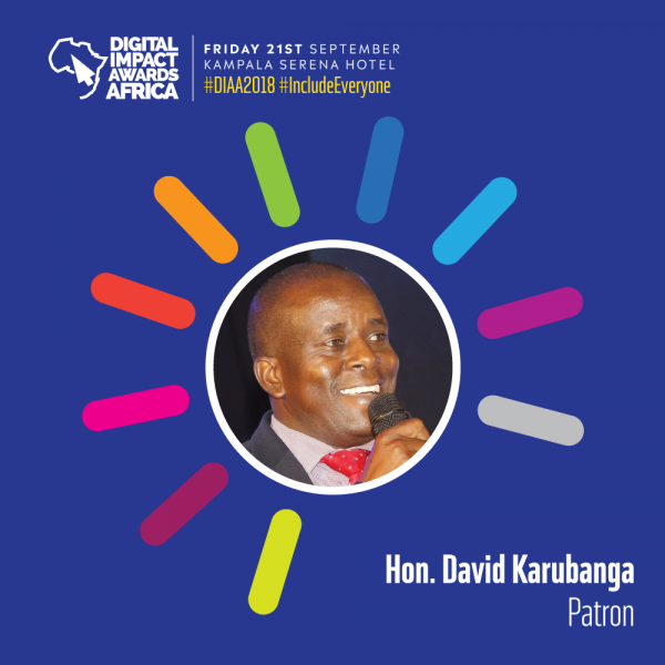 DIAA Patron - David Karubanga, is a Ugandan politician. He is the State Minister of Public Service in the Ugandan Cabinet.